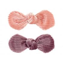 Souza 2 Haarklammern Schleifen EMERY rosa & lila