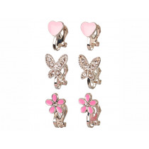 Souza Ohrclips Set PASCALLE silber & pink