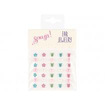 Souza Ohrclip-Sticker Set HERZEN, BLUMEN & PUNKTE