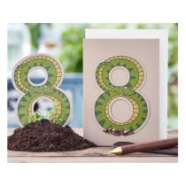 DieStadtgärtner Geburtstagskarte mit Saatstecker SCHLANGE 8