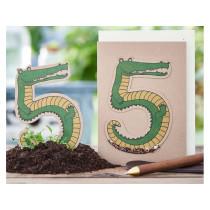 DieStadtgärtner Geburtstagskarte mit Saatstecker KROKODIL 5