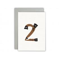 Ted & Tone Grußkarte 2. Geburtstag