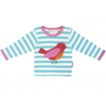 Toby Tiger Langarm T-Shirt mit Vogel