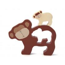 Trixie Babypuzzle aus Holz AFFE