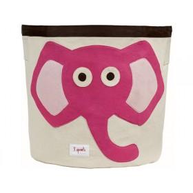 3 Sprouts Aufbewahrungskorb Elefant rosa
