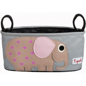 3 Sprouts Kinderwagentasche Elefant