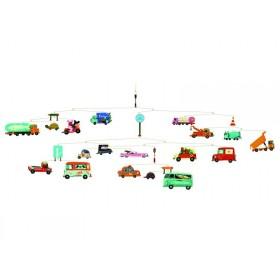 Djeco Mobile mit Autos, Bussen und Lastwagen