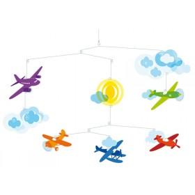 Djeco Mobile mit bunten Flugzeugen