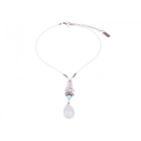 FIVA Halskette (Jade, Swarovski, Keramik)