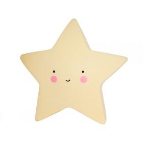 A Little Lovely Company Nachtlicht Stern gelb