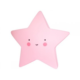 A Little Lovely Company Nachtlicht Stern pink