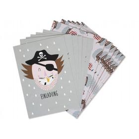 Ava & Yves Einladungskarten Set PIRAT