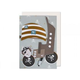 Ava & Yves Grußkarte PIRAT