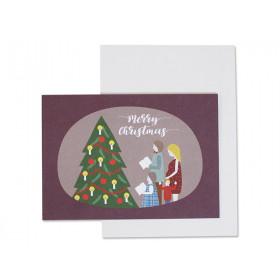 "Ava & Yves Grußkarte WEIHNACHTSFAMILIE ""Merry Christmas"""