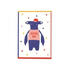 Ava & Yves Postkarte SUPERKID Hammerhai