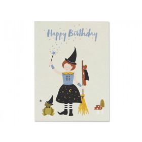 "Ava & Yves Postkarte HEXE ""Happy Birthday"""