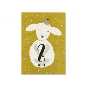 Ava & Yves Postkarte 2. Geburtstag