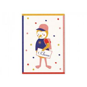 """Ava & Yves Postkarte RABE """"1. Klasse"""""""