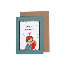 Ava & Yves Grußkarte ENDLICH SCHULKIND Junge