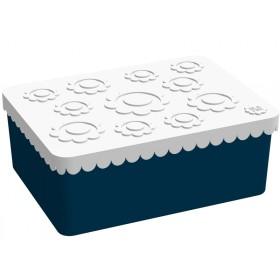 Blafre Lunchbox Blumen dunkelblau
