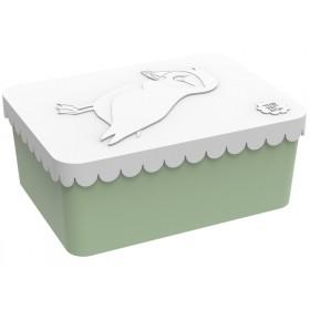 Blafre Lunchbox Papageientaucher weiß-grün klein