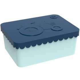 Blafre Lunchbox Traktor dunkelblau-mint klein