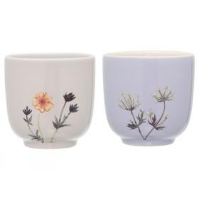 Bloomingville 2 Becher Keramik Flora
