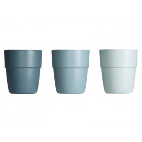 Done by Deer Yummy Mini-Becher 3er-Set blau