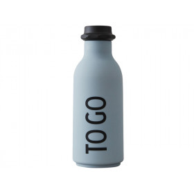 DESIGN LETTERS Trinkflasche To Go (grau)