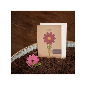 DieStadtgärtner Grußkarte mit Saatstecker DANKE