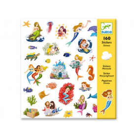 Djeco 160 Sticker MEERJUNGFRAUEN