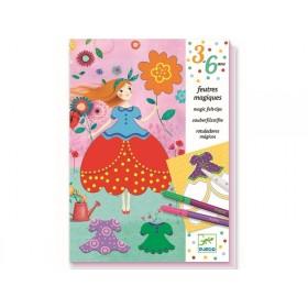 Djeco 3-6 Design Malset mit Zauberfilzstiften MARIES KLEIDER