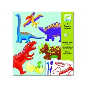 Djeco Dinosaurier Hampelmänner