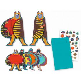 Djeco Einladungskarten-Set SUPERHELDEN