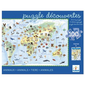 Djeco Entdeckerpuzzle Tiere der Welt