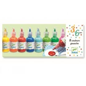 Djeco 3-6 Design 8 Tuben Gouache Farben