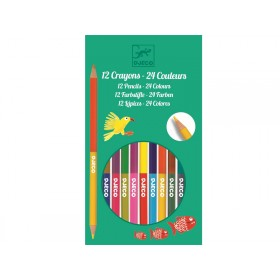 Djeco 12 Buntstifte - 24 Farben