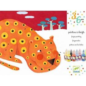 Djeco 3-6 Design: Fingerfarben - Fingerabdrücke Tiere
