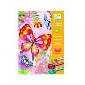 Djeco Glitzerbilder Schmetterlinge