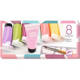 Djeco 3-6 Design 8 Gouache-Tuben Sweet Farben