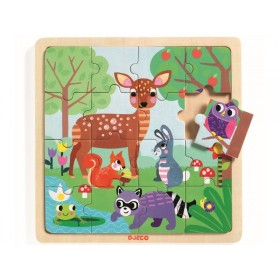 Djeco Holzpuzzle WALDTIERE