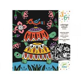 Djeco 3-6 Design Malbuch Samt Tierchen