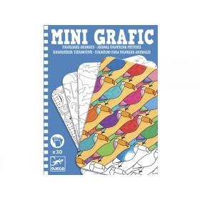 Djeco Mini-Grafic Tiermotive kolorieren