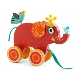 Djeco Nachziehtier Elefant Indy