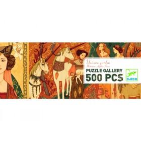 Djeco Puzzle Galerie UNICORN GARDEN (500 Teile)