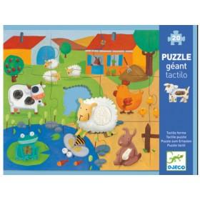 Djeco Riesenpuzzle Puzzle zum Ertasten Bauernhof