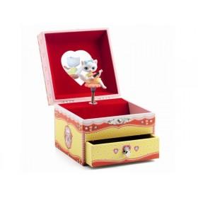 Djeco Spieluhr mit Schmuckkästchen KATZE