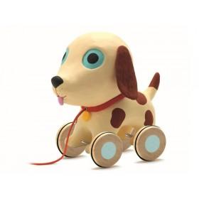 Djeco Nachziehtier Hund Theo