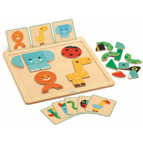 Djeco Magnetisches Puzzle GEOBASIC
