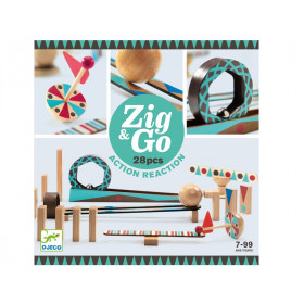Djeco Domino Rennstrecke Zig & Go 28 Teile